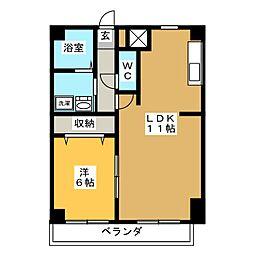 パルテール覚王山[4階]の間取り