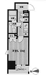 東京都新宿区大久保2丁目の賃貸マンションの間取り