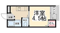[一戸建] 兵庫県川西市栄町 の賃貸【兵庫県 / 川西市】の間取り