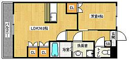京都府京都市伏見区横大路菅本の賃貸アパートの間取り