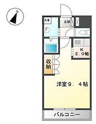 神奈川県海老名市河原口1の賃貸アパートの間取り