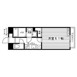 京都府京都市北区西賀茂大栗町の賃貸アパートの間取り