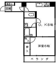桜木ハイム[203号室]の間取り