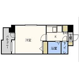 福岡県福岡市東区箱崎3丁目の賃貸マンションの間取り