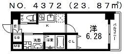 クローバー・グランデ昭和町[3階]の間取り