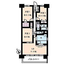 フォレストフローラ[11階]の間取り