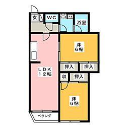 エテルナ溝田[1階]の間取り