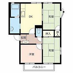 テクネ21A棟[2階]の間取り