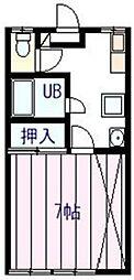 ラフォーレ富士見[1階]の間取り