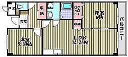 フジグランドコーポ[2階]の間取り