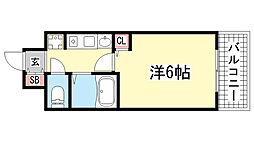 エステムコート神戸・県庁前[7階]の間取り