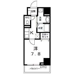 神奈川県横浜市鶴見区市場富士見町の賃貸マンションの間取り