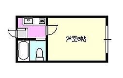 プラザドウセーブル[1階]の間取り