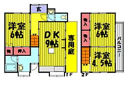[一戸建] 埼玉県草加市草加5丁目 の賃貸【埼玉県 / 草加市】の間取り
