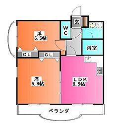 ジェイ・ジル-B[4階]の間取り