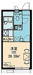 シーガル羽田[105号室]の間取り