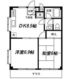 神奈川県横浜市泉区和泉町の賃貸マンションの間取り