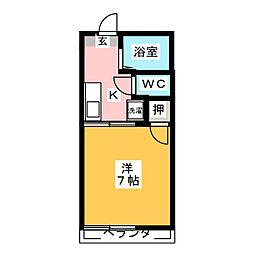 浅野ハイツ[1階]の間取り
