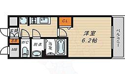 ファステート蒲生公園アぺルザ 8階1Kの間取り