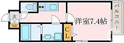 レジュールアッシュ京橋 8階1Kの間取り