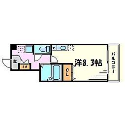 エレガンス西宮[4階]の間取り