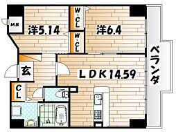 ピュアライフ金田ビル[4階]の間取り