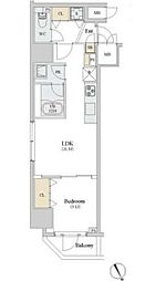 JR山手線 新橋駅 徒歩7分の賃貸マンション 4階1LDKの間取り