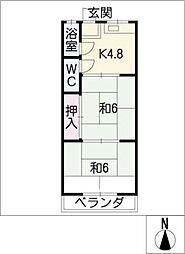 レイクビル[2階]の間取り