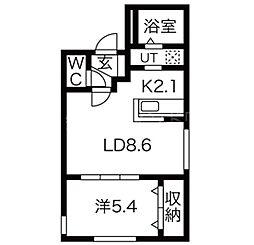 アルーアKOTONI[1階]の間取り