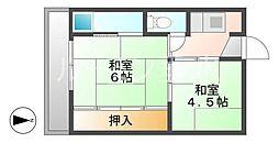 兵庫県小野市黒川町の賃貸マンションの間取り