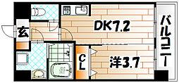 ルネッサンス21小倉東[6階]の間取り