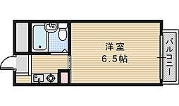 ブロッサム阿倍野[202号室]の間取り