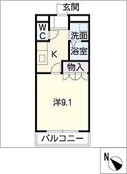 エレガントハウス桜[2階]の間取り