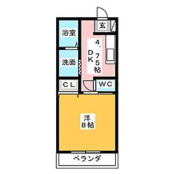 コーポ藤 B[1階]の間取り