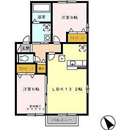 オリオン A棟[1階]の間取り