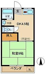 東京都調布市柴崎1丁目の賃貸マンションの間取り