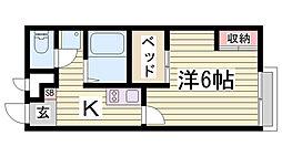 レオパレスグランデⅦ[2階]の間取り