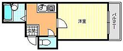 グロー駒川中野[4階]の間取り