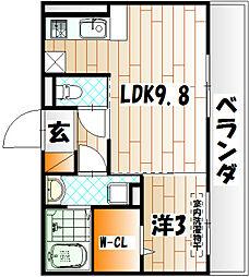 セジュール熊本[2階]の間取り