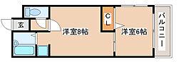 兵庫県神戸市長田区房王寺町2丁目の賃貸マンションの間取り
