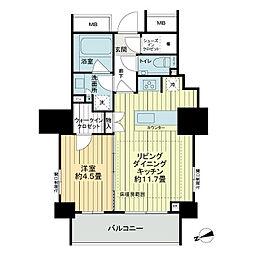 ザ・パークハウスアーバンス御成門[12階]の間取り