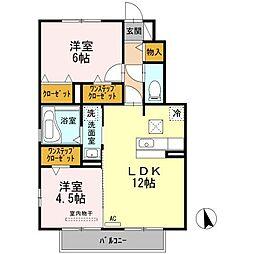 ベラカーサ神田 II[2階]の間取り