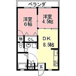 加藤ビル(笠松)[3階]の間取り