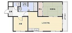 カサ・ブランカ松田[4階]の間取り