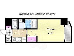 Osaka Metro中央線 九条駅 徒歩4分の賃貸マンション 8階1Kの間取り
