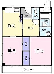 マンショングレース[2階]の間取り