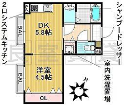 愛知県名古屋市昭和区八事富士見の賃貸マンションの間取り