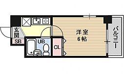 エスリード京都河原町第2[202号室号室]の間取り