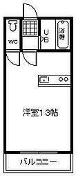 マリンハイツ和田山[305号室]の間取り