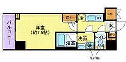 東京メトロ有楽町線 市ヶ谷駅 徒歩8分の賃貸マンション 5階1Kの間取り